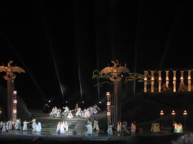 """Momento de la representación en el Festival de Mörbisch de 2007 de """"Wiener Blut"""""""