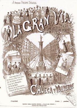 """Cartel del estreno de """"La Gran Vía"""" (1886)"""