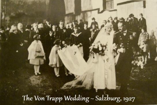 María Augusta y Georg Ludwig von Trapp el día de su boda, 26 de noviembre de 1927