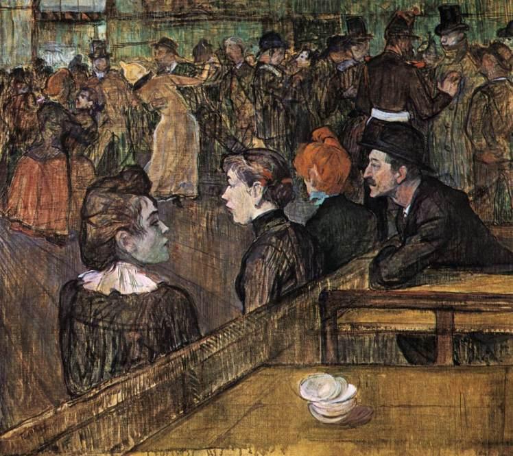Baile en el Moulin de la Galette (1889), de Toulouse-Lautrec