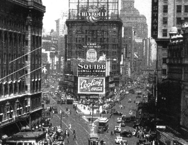 Broadway a principios de la década de 1930