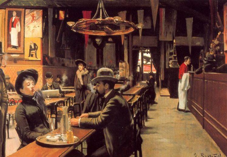 Café en Montmartre (1890), de Santiago Rusiñol