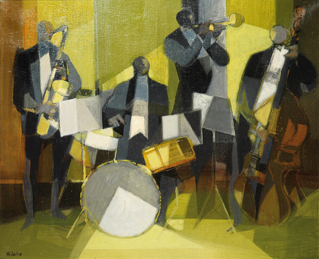 """Jazz"", óleo de Camille Hilaire (1916-2004)"