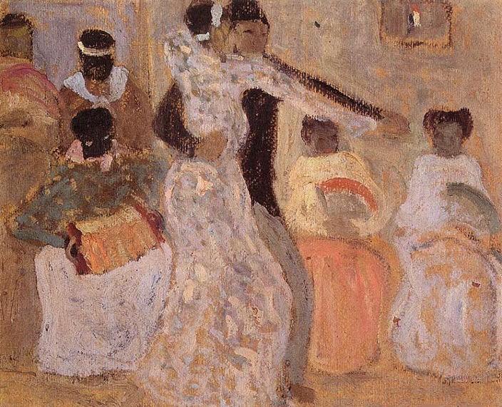 """""""El tango"""", óleo de Pedro Figari (Uruguay, 1861-1938)"""