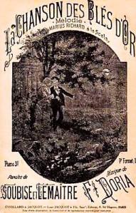 "Edición de la partitura de ""La chanson des blés d'or"" (1882)"