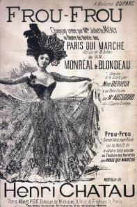 """Edición de la partitura de """"Frou-Frou"""" (1898)"""