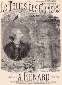 "Edición de la partitura de ""Le temps des cerises"" (1867)"