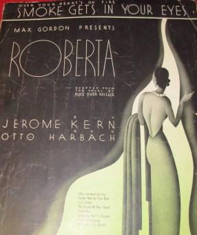 """Cartel anunciando las canciones del musical """"Roberta"""""""