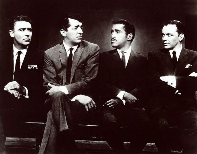 Peter Lawford, Dean Martin, Sammy Davis Jr. y Frank Sinatra