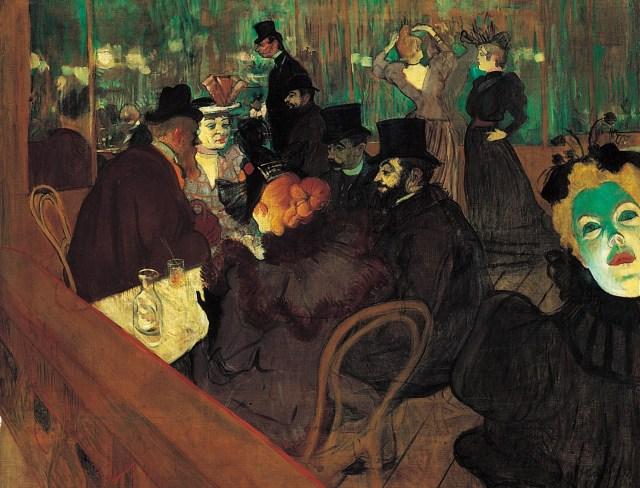 """""""Au Moulin Rouge"""" (1892), óleo de Henri de Toulouse-Lautrec"""