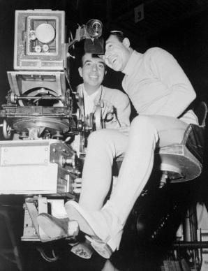 """Gene Kelly y Vincente Minnelli durante el rodaje de """"Un americano en París"""""""