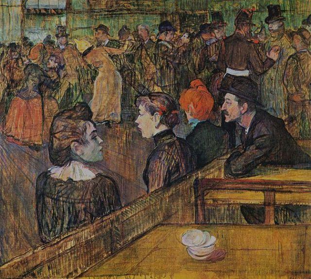 """""""Au bal du Moulin de la Galette"""" (1889). Henri de Toulouse-Lautrec"""