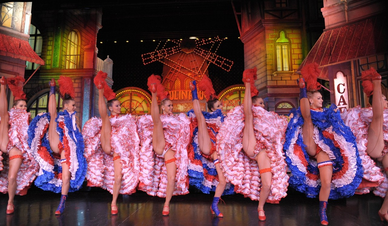 Nude cancan dancers