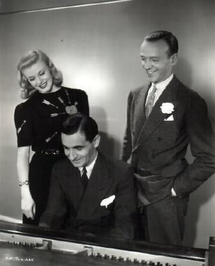 Irving Berlin con Ginger Rogers y Fred Astaire