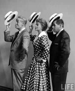 Maurice Chevalier, Lucille Ball y Desi Arnaz