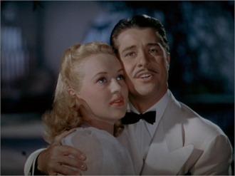 Betty Grable y Don Ameche en un fotograma de la película