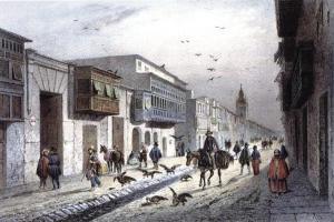 Antigua calle Valladolid de Lima (finales del siglo XVIII)