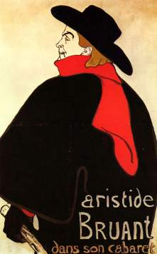 Aristide Bruant in his Cabaret painting by Toulouse-Lautrec