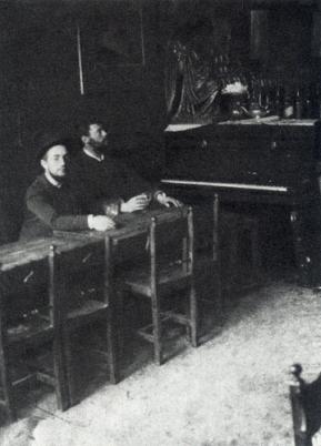 Toulouse-Lautrec y Louis Anquetin en El Mirliton