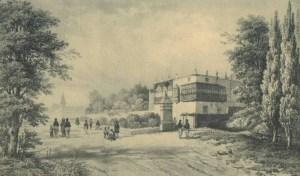 Grabado de Le Bonite de la mansión de La Perricholi