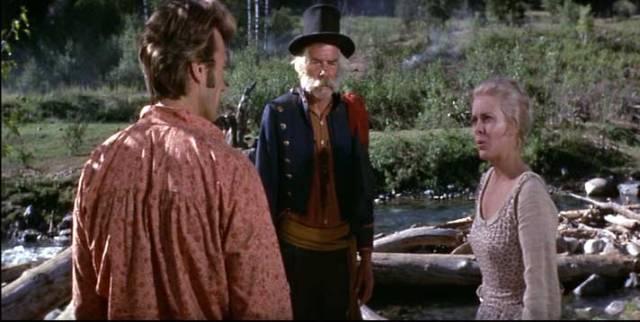 """Clint Eastwood, Lee Marvin y Jean Seberg en """"La leyenda de la ciudad sin nombre"""""""