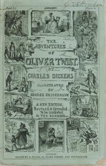 """Primera edición completa de """"Oliver Twist"""" (1846)"""