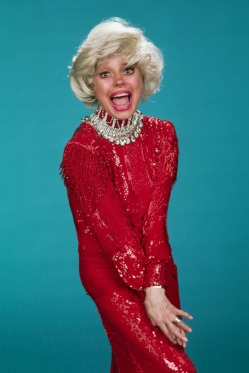 Carol Channing in Rhinestones and Red