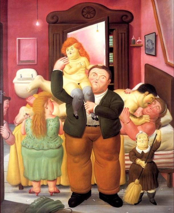 """""""La casa de Amanda Ramírez"""" (1988), óleo de Fernando Botero"""