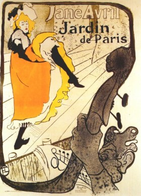 Jane Avril por Toulouse-Lautrec