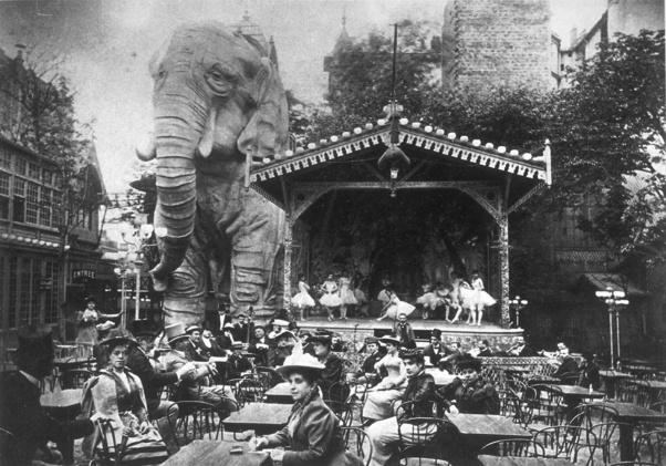 El elefante de la Bastilla en el Jardin d'hiver del Moulin Rouge (1889)