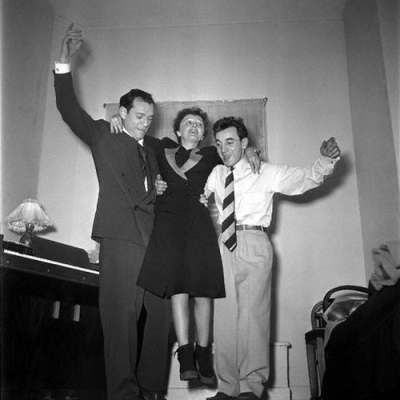 Eddie Constanine, Édith Piaf y Charles Aznavour