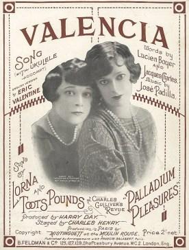 """Afiche publicitario de la versión en inglés de """"Valencia"""" (National Library of Australia)"""
