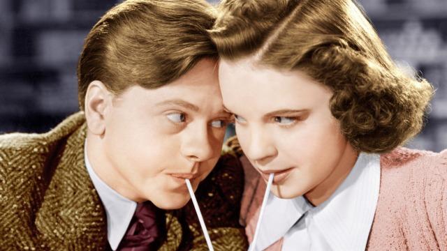 """Mickey Rooney y Judy Garland. Afiche publicitario de """"Babes in Arms"""""""
