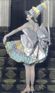Ruth Etting en 1918, cuando actuaba en el Marigold Gardens