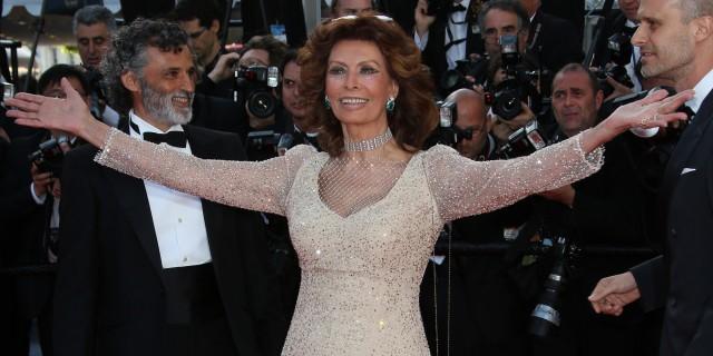 Sophia Loren en el Festival de Cannes de 2014