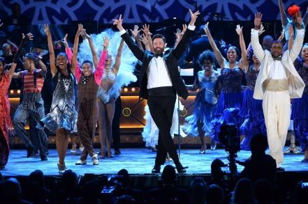 Hugh Jackman durante la ceremonia de los Tony