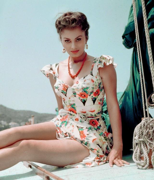 """Sophia Loren en 1955 durante el rodaje de """"Pane, amore e..."""""""