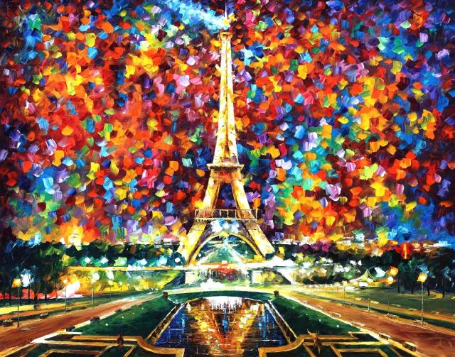 """Paris of My Dreams"", óleo de Leonid Afrémov"