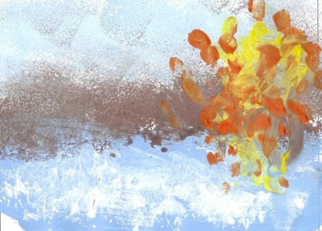"""""""Mi visión de Monet"""", dactilopintura de Carla Insa (2014)"""