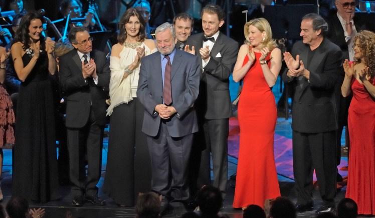 Stephen Sondheim durante el concierto en su honor con motivo de su 80 aniversario