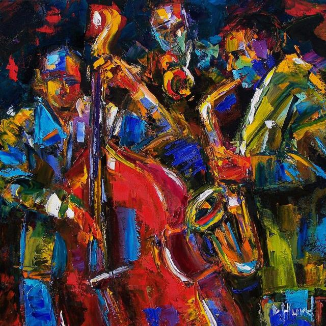 """""""Jazz"""" (2008), óleo de Debra Hurd"""
