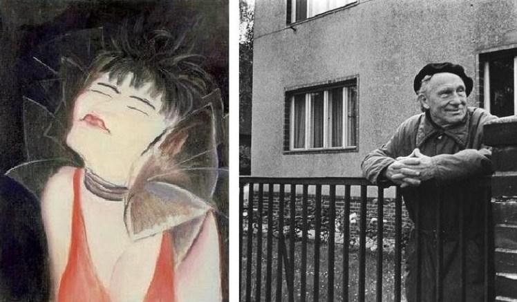Valeska Gert (izquierda) pintada por Jeanne Mammen (ca. 1929). Ernst Busch (derecha).