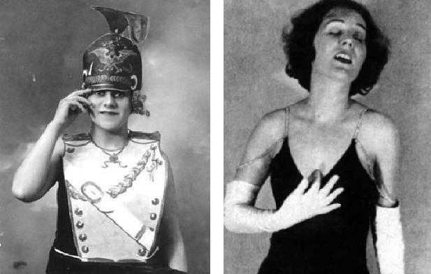 Annemarie Hase (izquierda). Blandine Ebinger (derecha).