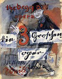 """Cartel del estreno en 1928 de """"Die Dreigroschenoper"""""""