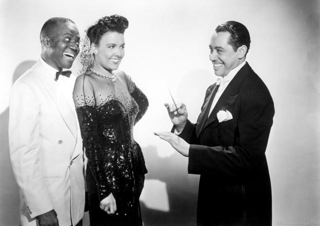 "Bill Bojangles Robinson, Lena Horne y Cab Calloway en ""Stormy Weather"""