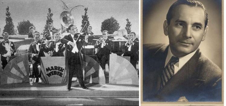 Marek Weber y su orquesta (izquierda). Leo Monosson (derecha).