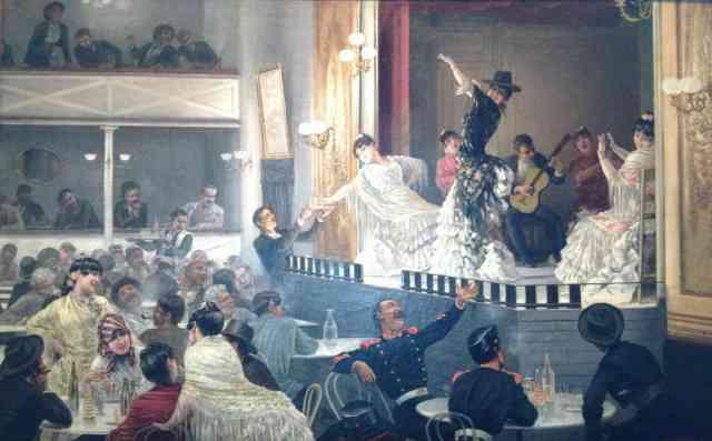 Baile flamenco (1890), de Josep Llovera.