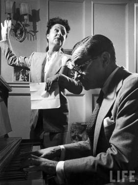 Ethel Merman e Irving Berlin en 1950.