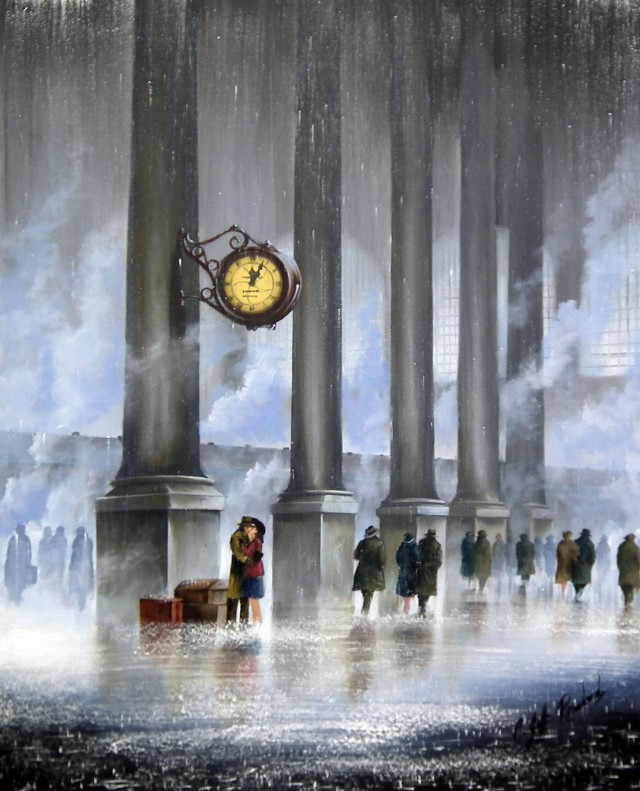 """Everytime We Say Goodbye"", óleo de Jeff Rowland"