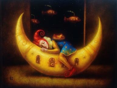 """""""La marcha de la luna"""" (2014), de Ronald Companoca."""